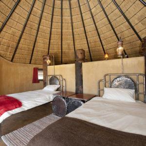 Ongula Homestead Lodge hut interior