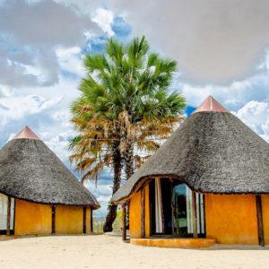 ongula village homestead huts